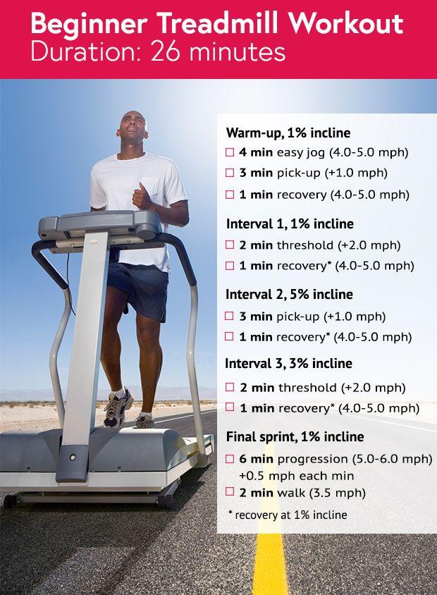 26 Minute Beginner Treadmill Workout Running