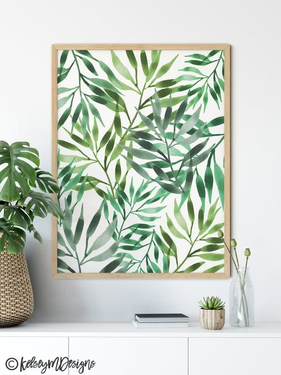 FRAMES ARE NOT INCLUDED. This listing is for the art prints only and I do not offer framing at this time.Free domestic shipping when you buy 2 items or more. Discount will automatically apply to your cart.Leaf Mural Painting • Tropical Wall Art • Watercolor PrintThis is a print of my watercolor piece 'Leaf Mural' and will make a great print in any room. Looking to add more summer flair or California vibes to your home than this print is for you!This print is a reproduction of my original waterco