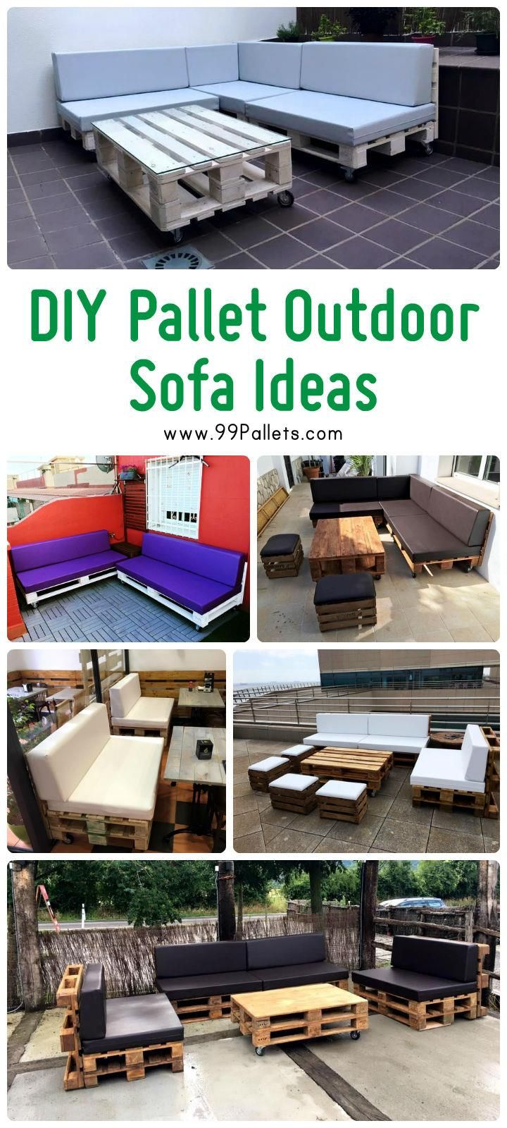 Diy pallet sofa with table 99 pallets - Diy Pallet Outdoor Sofa Ideas 99 Pallets