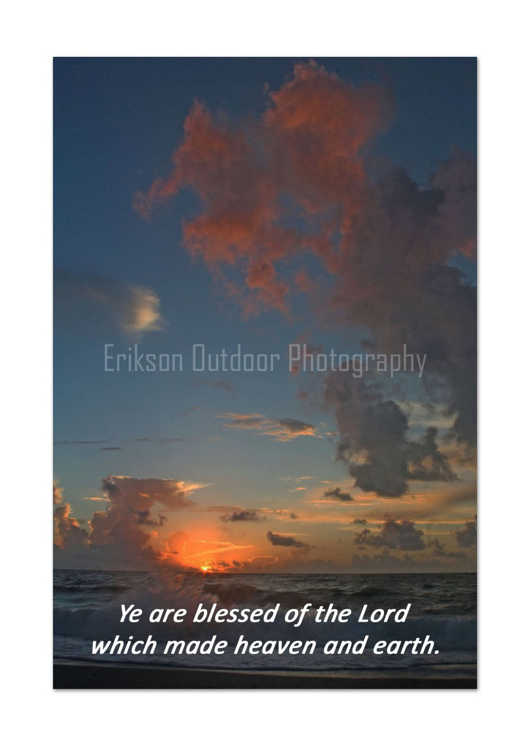 Christian Photo Card Inspirational Note Cards Scripture Greeting