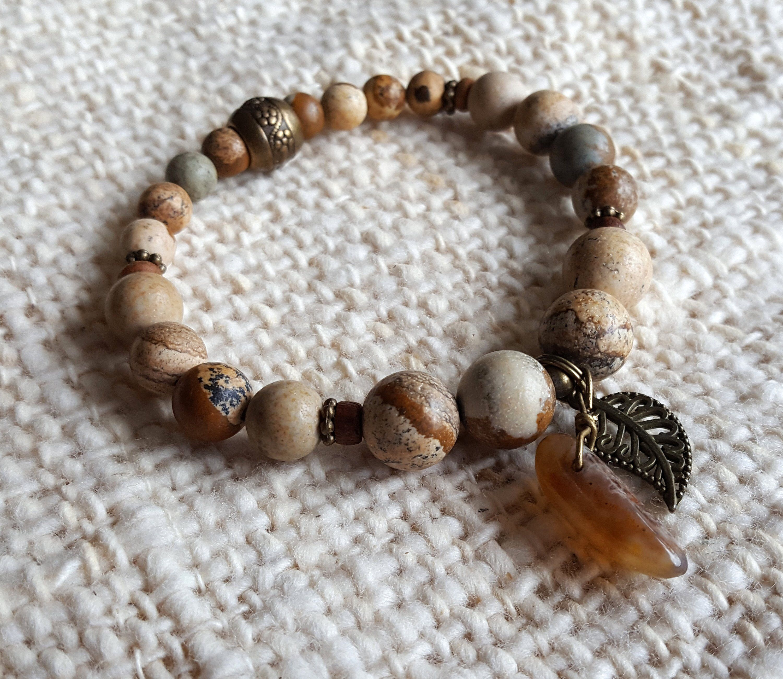 brown bronze gemstone bracelet rhinestone gemstone bracelets brown bronze stretch gemstone bracelet
