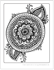 Download Zen Mandala Coloring Page For Free