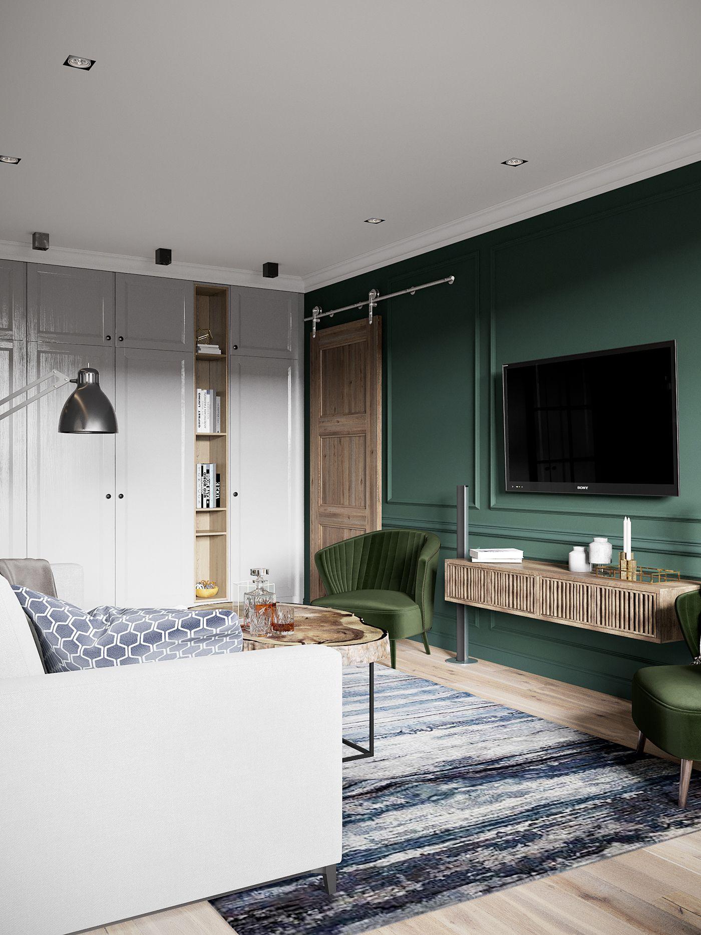 Un appartement en couleurs sombres à St Petersbourg - PLANETE DECO a ...