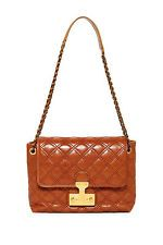MARC JACOBS Cognac/Brown Baroque Large Single Quilted Shoulder Bag.*NEW**$895***
