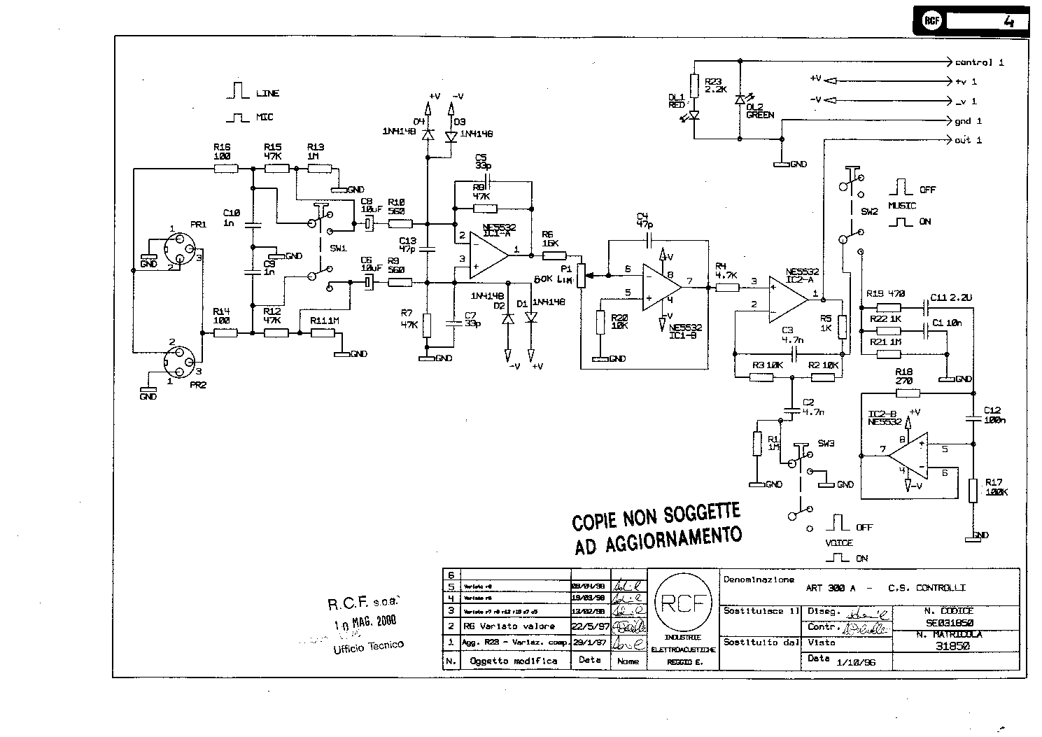 Rcf Art300a Sch Service Manual Free Download Schematics Eeprom Fm Transmitter Schematic Wiring Diagram Repair Info For Electronics