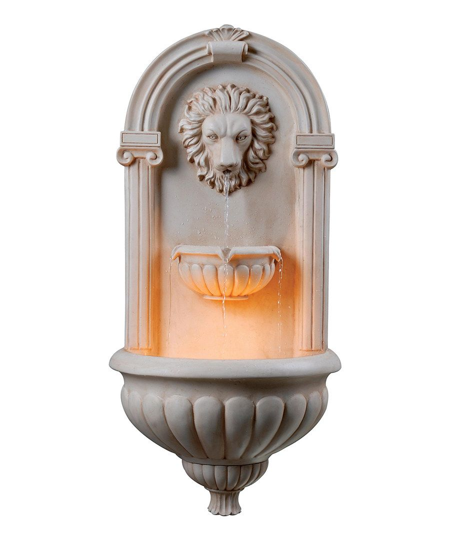 Look at this Sandstone Dauphin Wall Fountain on #zulily today!