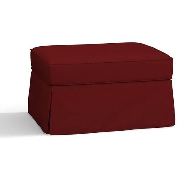 Pottery Barn PB Comfort Roll Slipcovered Storage Ottoman ($629) ❤ liked on Polyvore featuring home, furniture, ottomans, slip covers furniture, slipcovered furniture, slipcover ottoman, pottery barn furniture and storage ottoman