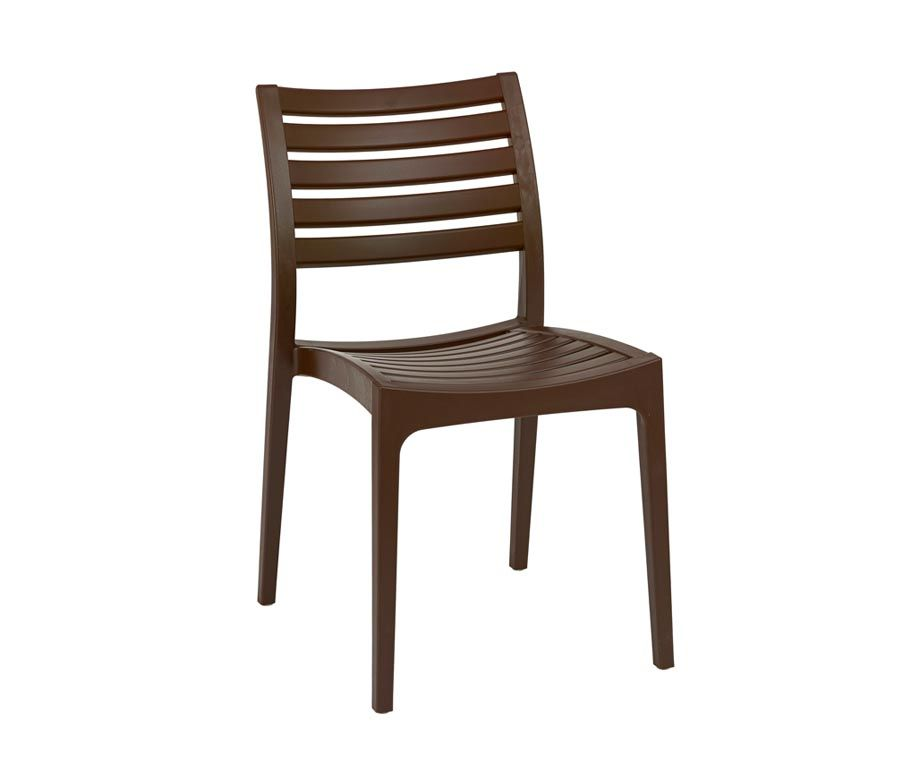 Melbourne Brown Outdoor Stacking Chairs Made From Polypropylene Designed  For Cafes, Bars And Restaurants