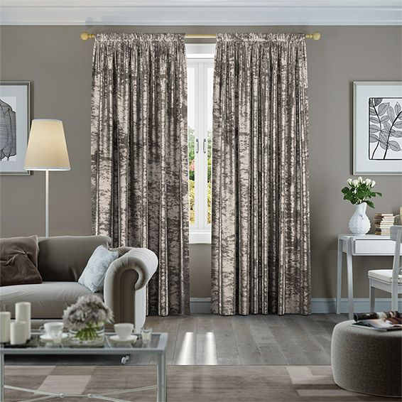 Crushed Velvet Mink Curtains From Blinds 2go