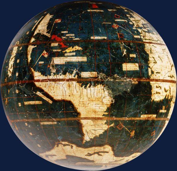 "Globe terrestre, dit ""Globe vert"" Martin Waldseemüller - 1507"