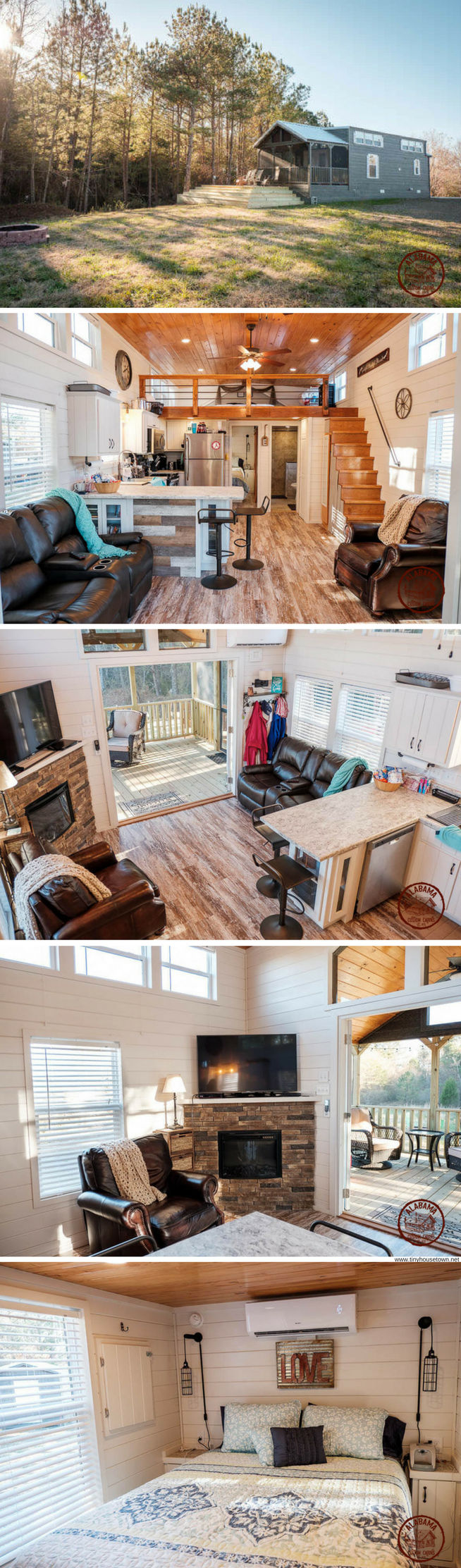 The Kelsey Cottage: a two bedroom park model home with a