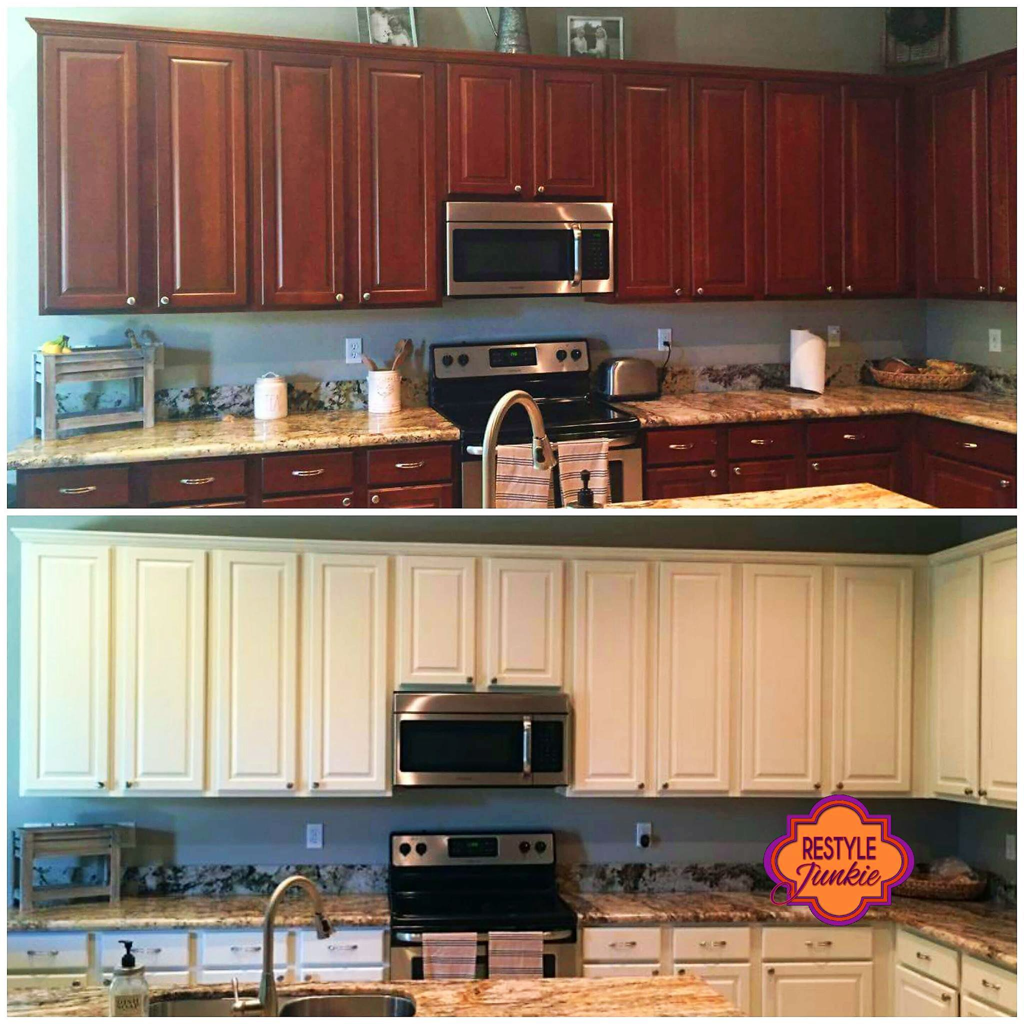 Sealing Painted Kitchen Cabinets: Antique White Kitchen Cabinet Makeover