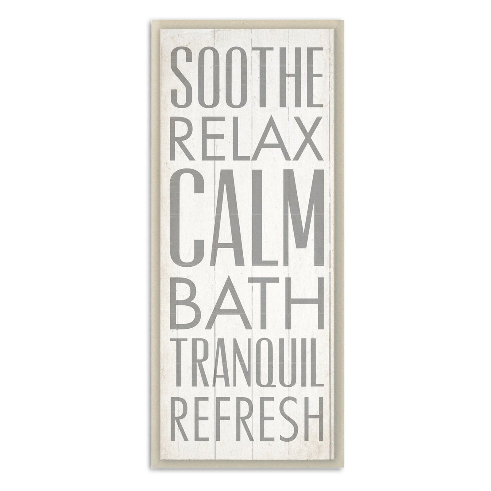 Soothe Calm Relax Bath Bathroom Wall Plaque - WRP-1067_WD_7X17
