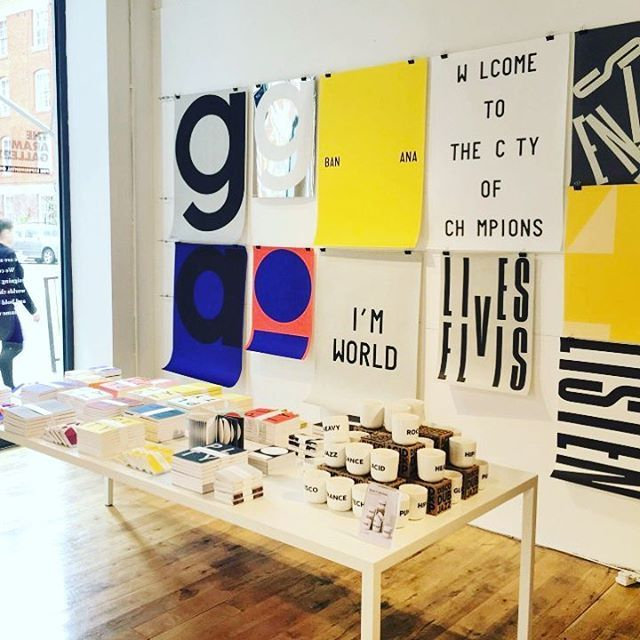 Bulldog clips on wire/string for prints  Drop in to the @playtype pop-up shop at @aramstore @coventgardenldn