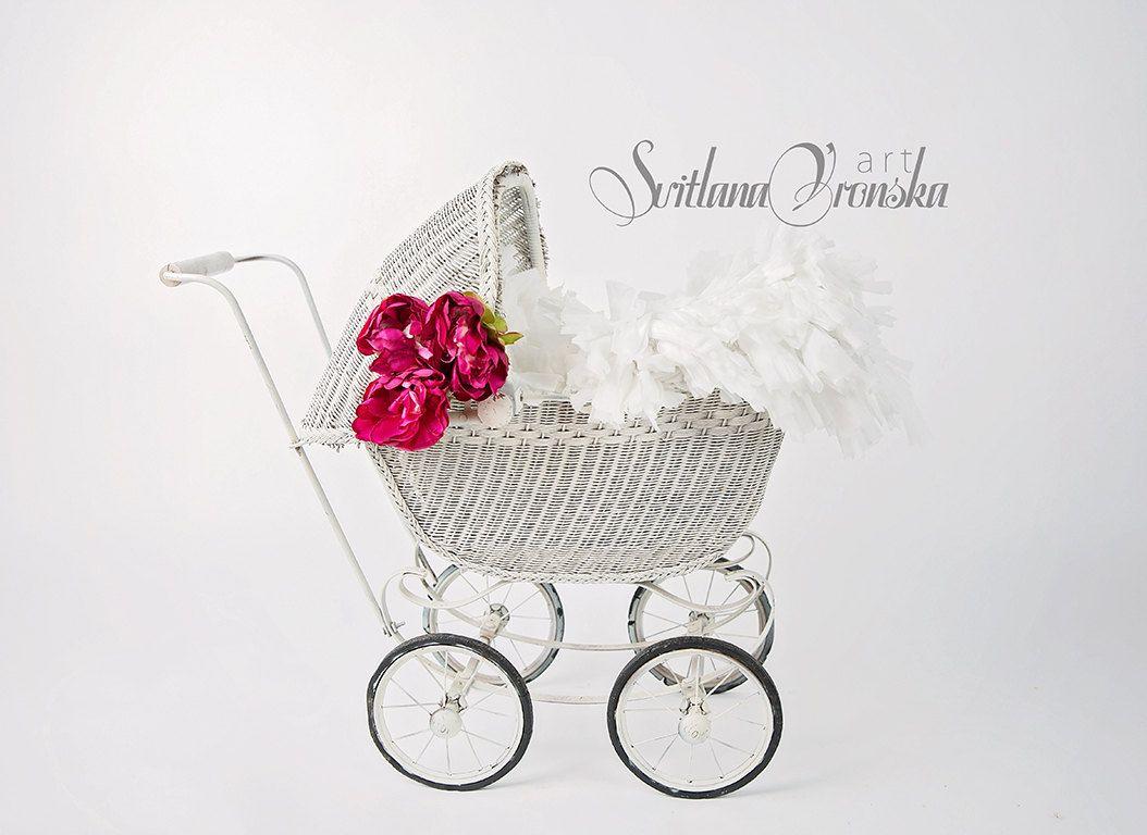 Vintage babyzimmer ~ Newborn digital backdrop vintage stroler vintage baby buggy