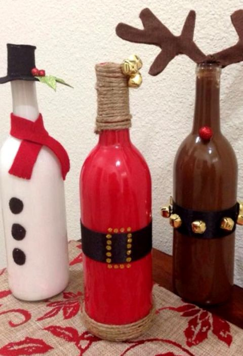 Wine Bottle Decorating Ideas 43 Clever Overthetop Ridiculous Christmas Decor Ideas You