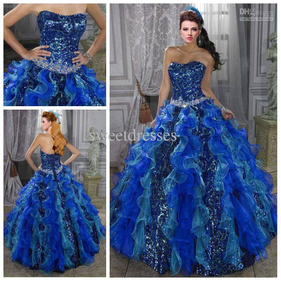Wholesale 2014 Gorgeous Exquisite Lace Sequins Strapless Tiered Ruffled Ball Gowns Quinceanera Dress 20131010 JA556, Free shipping, $130.31/Piece | DHgate Mobile
