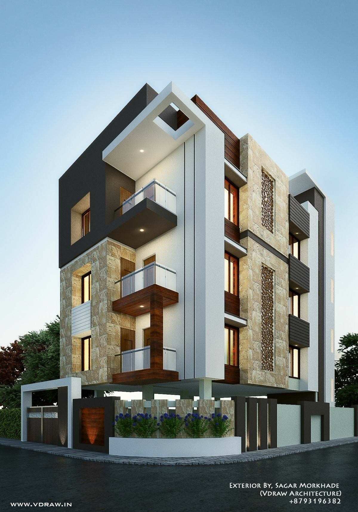 Exterior By Sagar Morkhade Vdraw Architecture 8793196382: Pin By Shahzad Khan On Decorative Stand In 2019