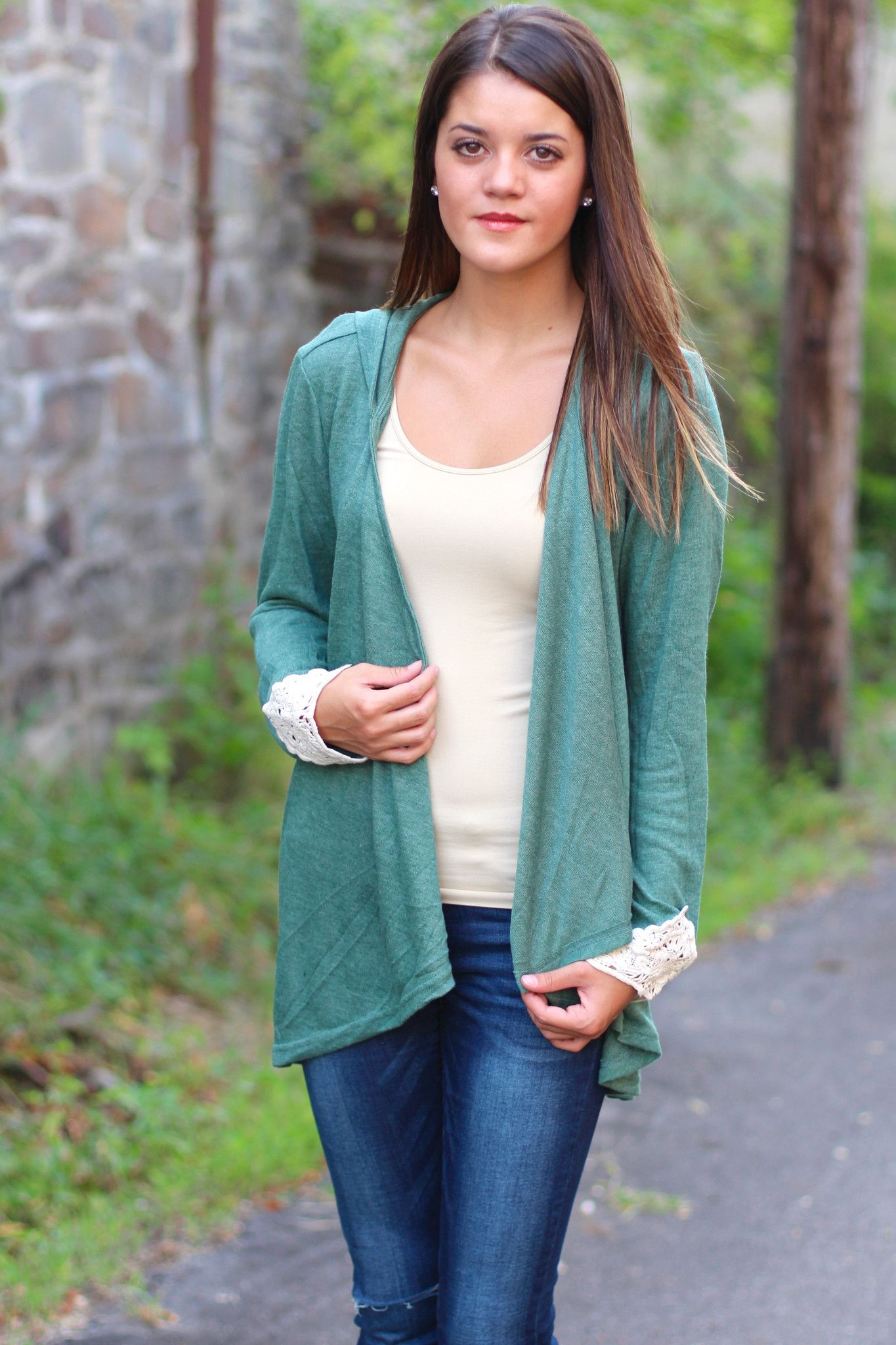 Colorado Cutie Hooded Cardigan {Green} - The Fair Lady Boutique ...