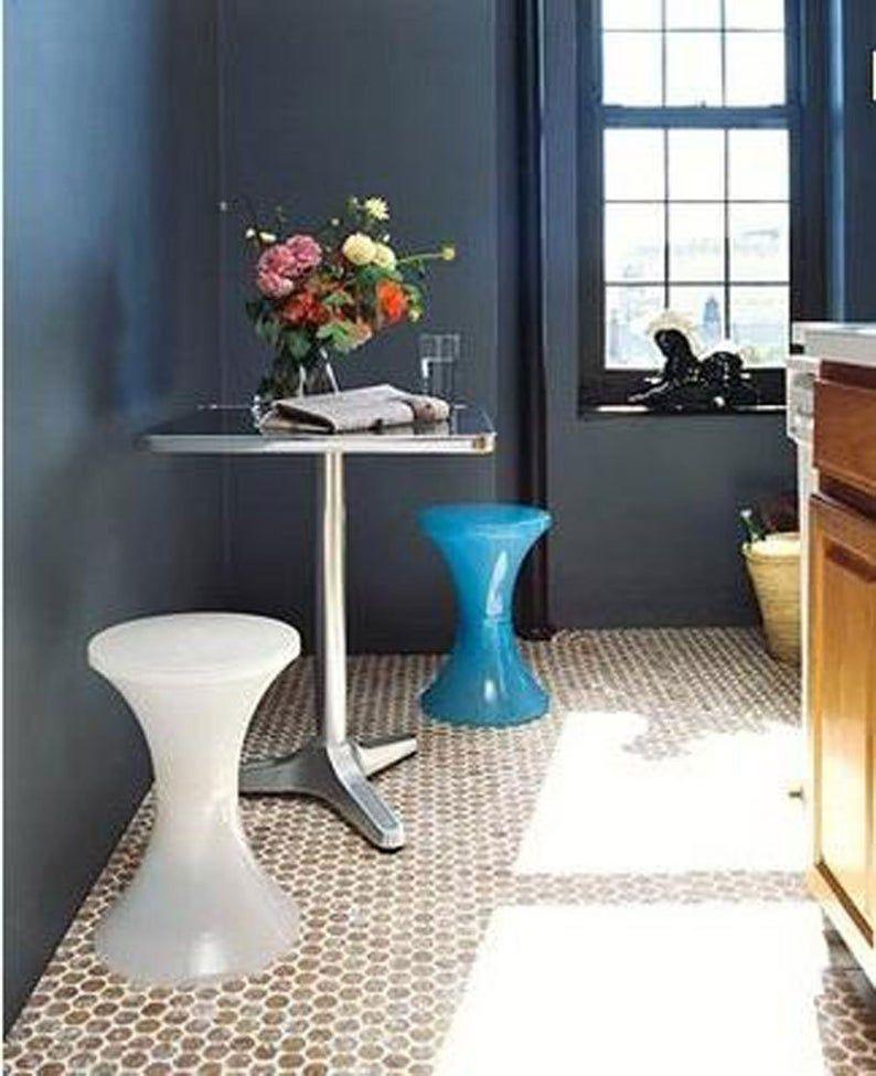 1 Cork Mosaic Tile For Floors Walls Bathroom Kitchen Etsy In 2020 Penny Round Tiles Cork Flooring Round Tiles