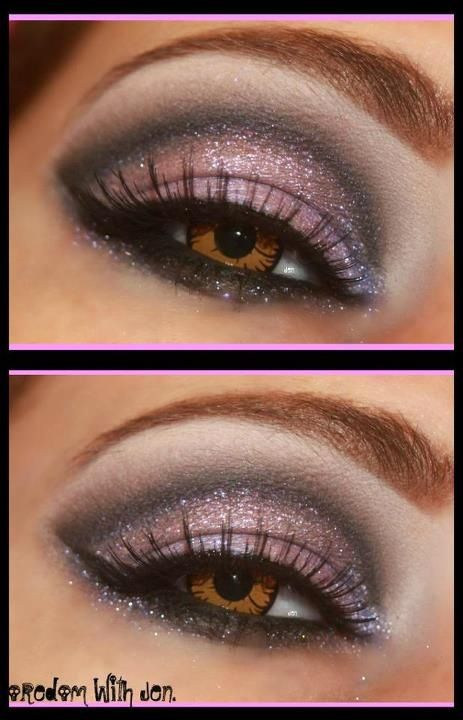 Www.facebook.com/boredomwithjen. Sugarpill and Urban Decay moon shadow.