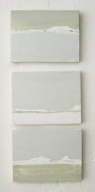 small linear landscape - triptych