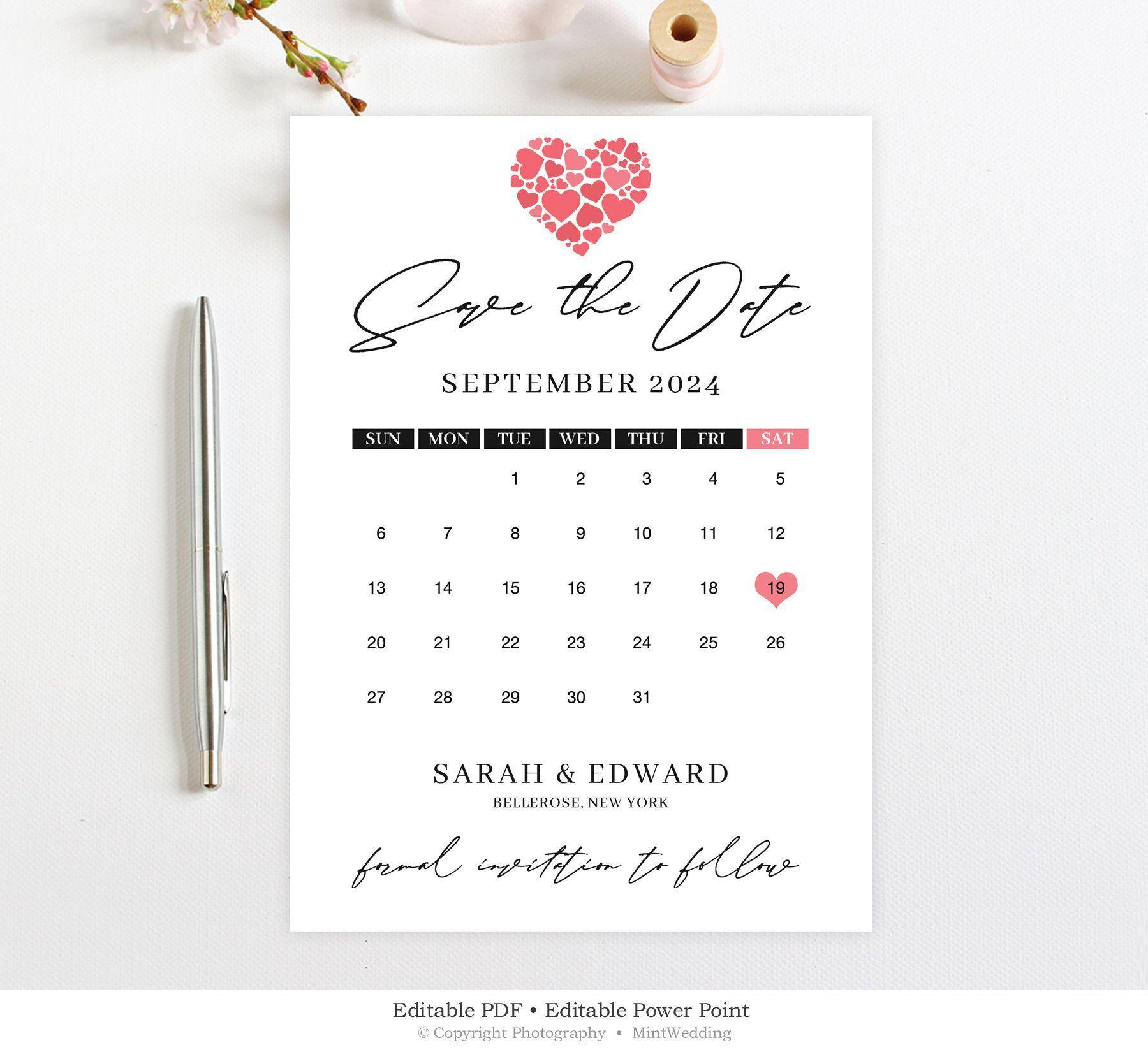 Save The Date Calendar Template Wedding Save The Date Printable Funny Save The Date Card M Wedding Saving Wedding Save The Dates Save The Date Templates
