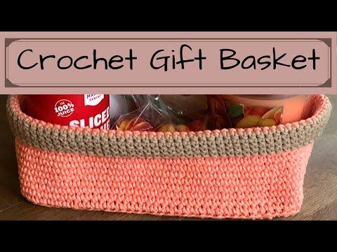 crochet basketsgift idea
