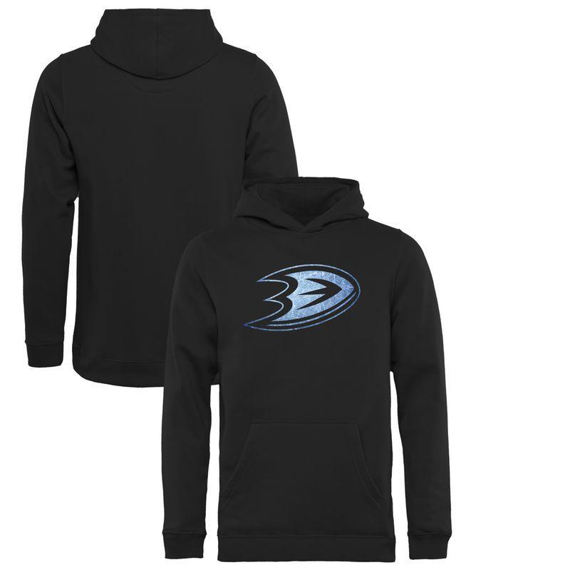 Anaheim Ducks Youth Pond Hockey Pullover Hoodie - Black