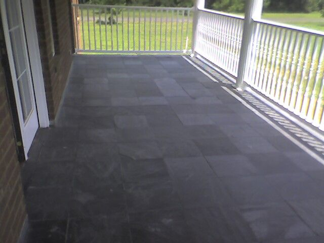 Slate Tile Porch Exterior Paint Colors For Home Tiles