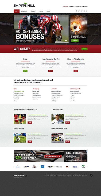 Responsive Website Vorlage für Online Wetten | Online casino ...