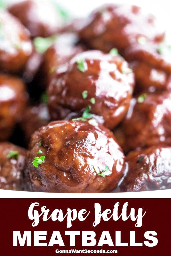Sweet and hearty grape jelly meatballs make for a classic appetizer or main course! Full-bodied and spicy, these fellas are sure to please the crowd. #GrapeJelly #Meatballs #crockpotappetizers #meatballswithgrapejelly Sweet and hearty grape jelly meatballs make for a classic appetizer or main course! Full-bodied and spicy, these fellas are sure to please the crowd. #GrapeJelly #Meatballs #crockpotappetizers