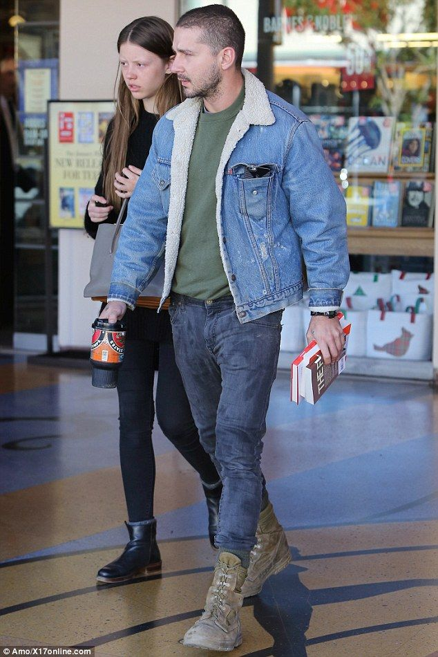 Shia LaBeouf shops for books with help from girlfriend Mia Goth