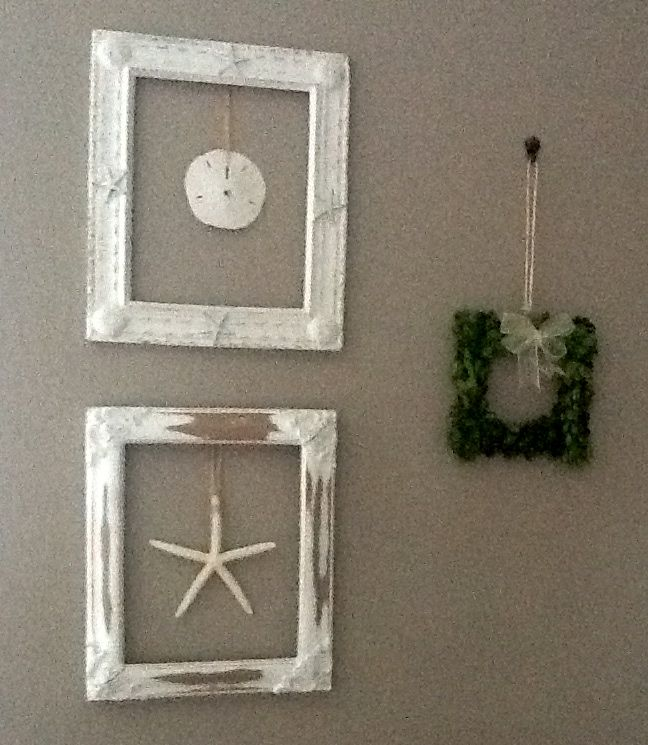 i used old frames without the glass then hung the