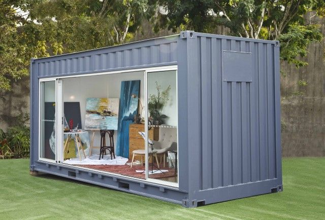 Need Extra Room Rent A Shipping Container For Your Backyard Container House Container Buildings Container Architecture