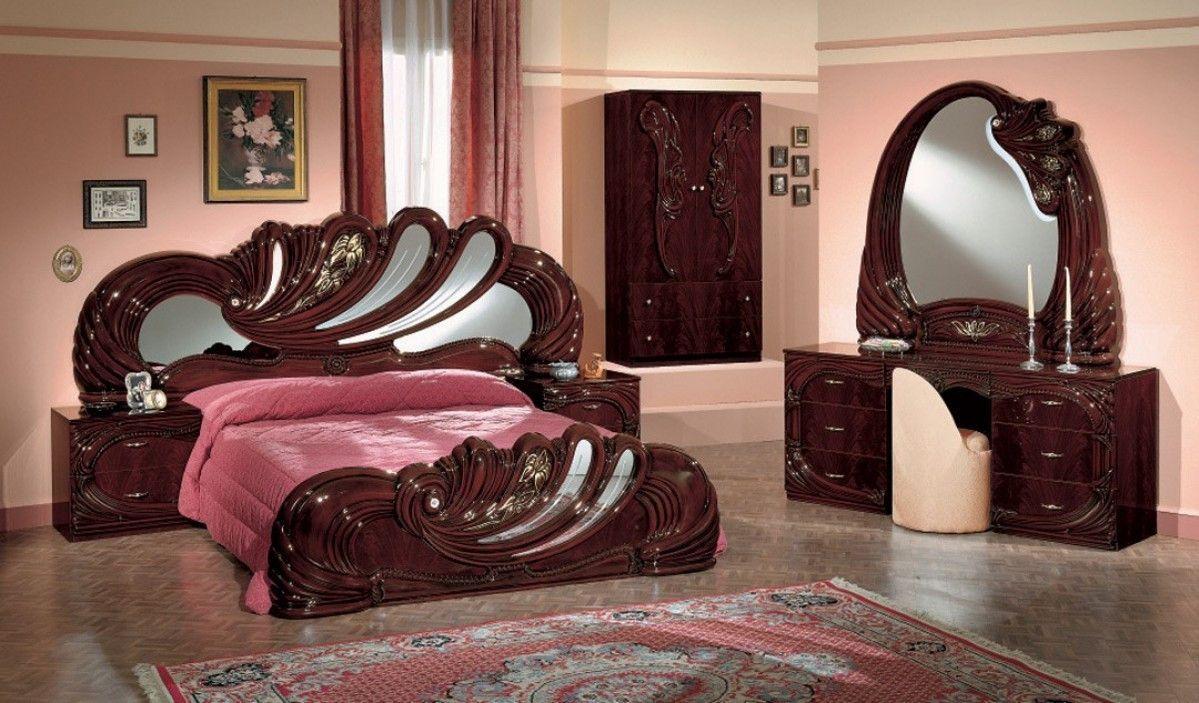Modrest Vanity Mahogany Italian Classic Bedroom Set