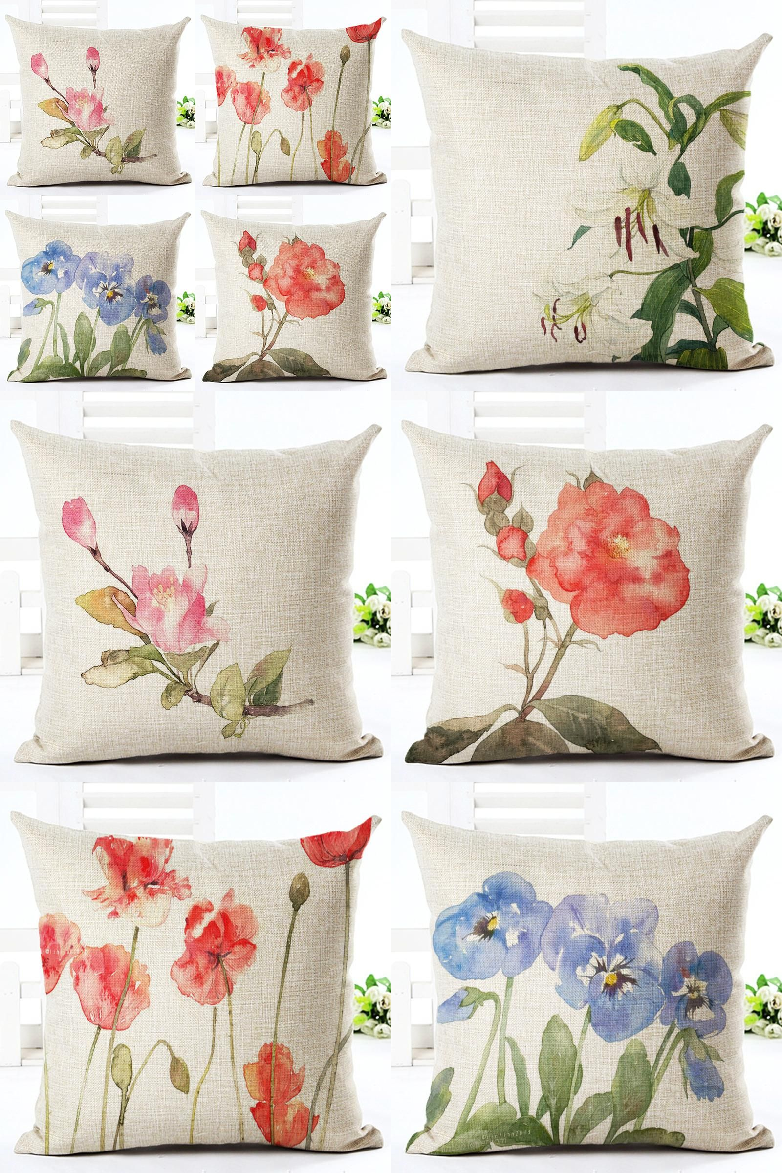 4pcs home decoration throw pillow cover cushion covers tea time US SELLER