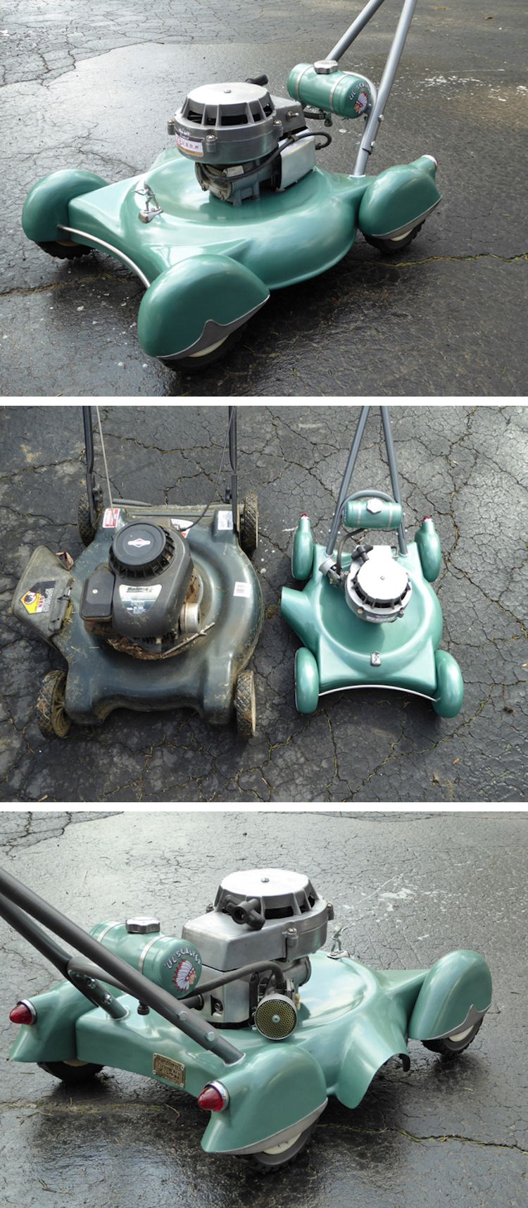 Retro Diy Lawn Mowers Inspired By Classic Cars Cars Minis And