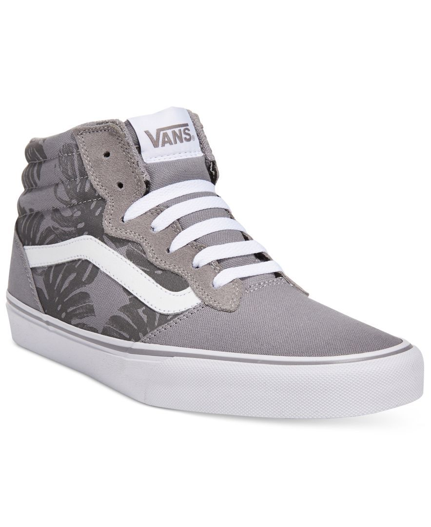 4ccb549c25 Get in the tropical mood wherever you are with these floral-print canvas  high-tops from Vans.