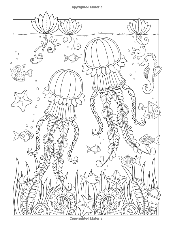 Tropical Ocean: A beautiful coloring book for adults and kids ...