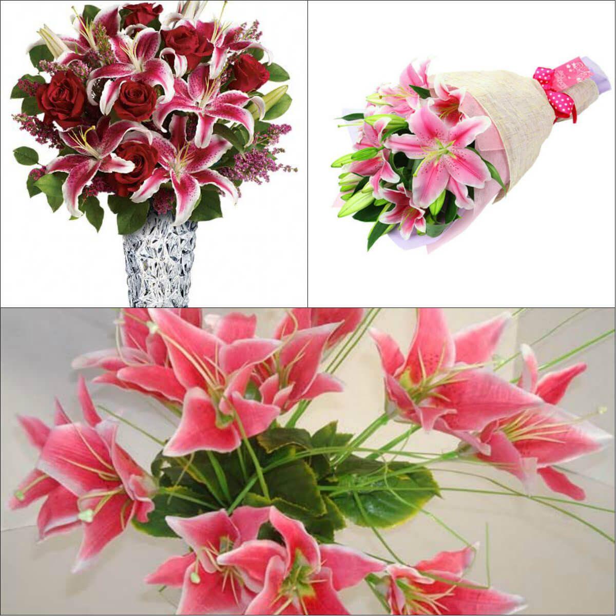 Lily Flower Bouquet Flower Ideas Pinterest Beautiful Flowers