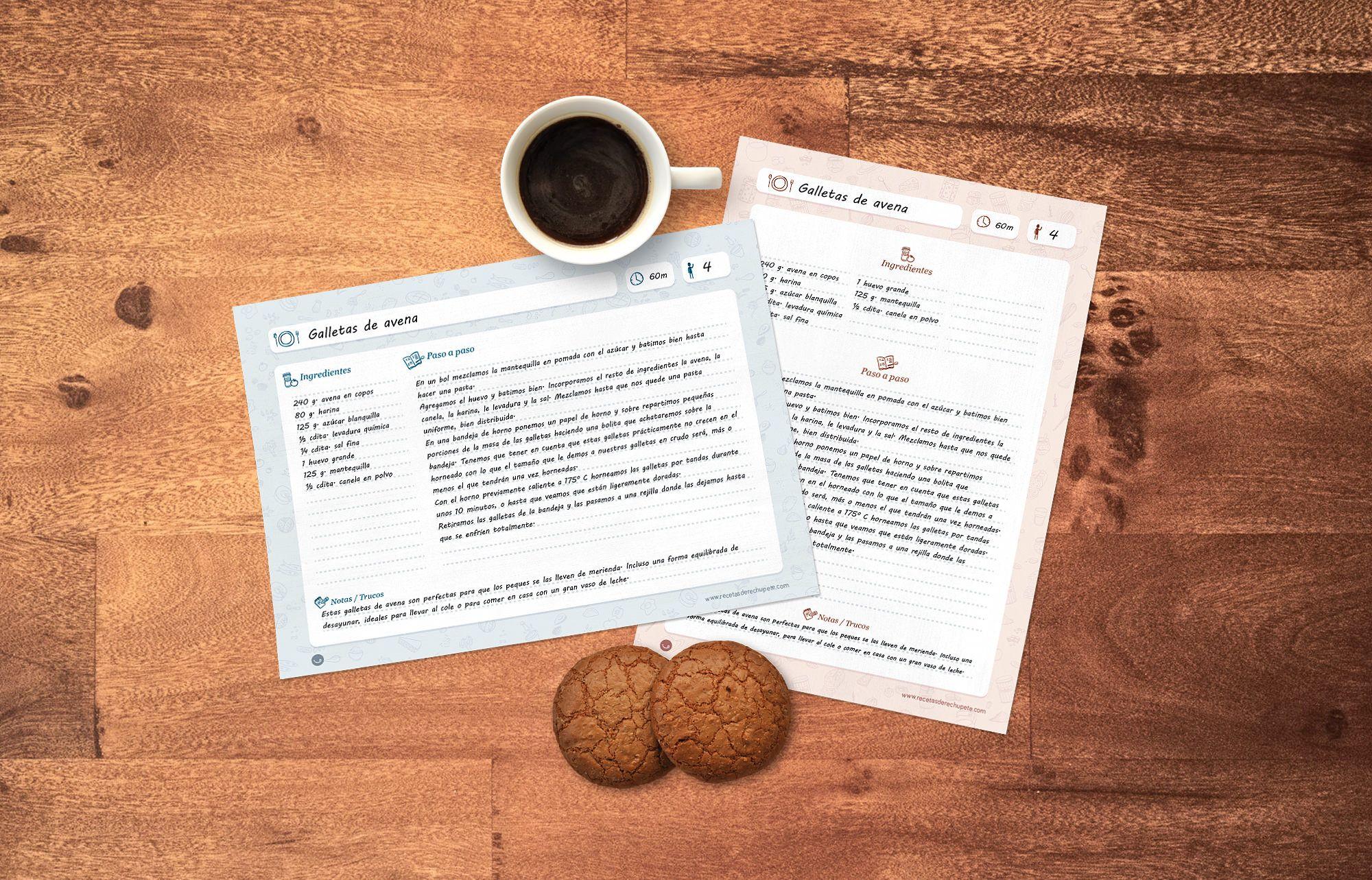 Plantillas gratis para escribir e imprimir recetas | Imprimibles ...