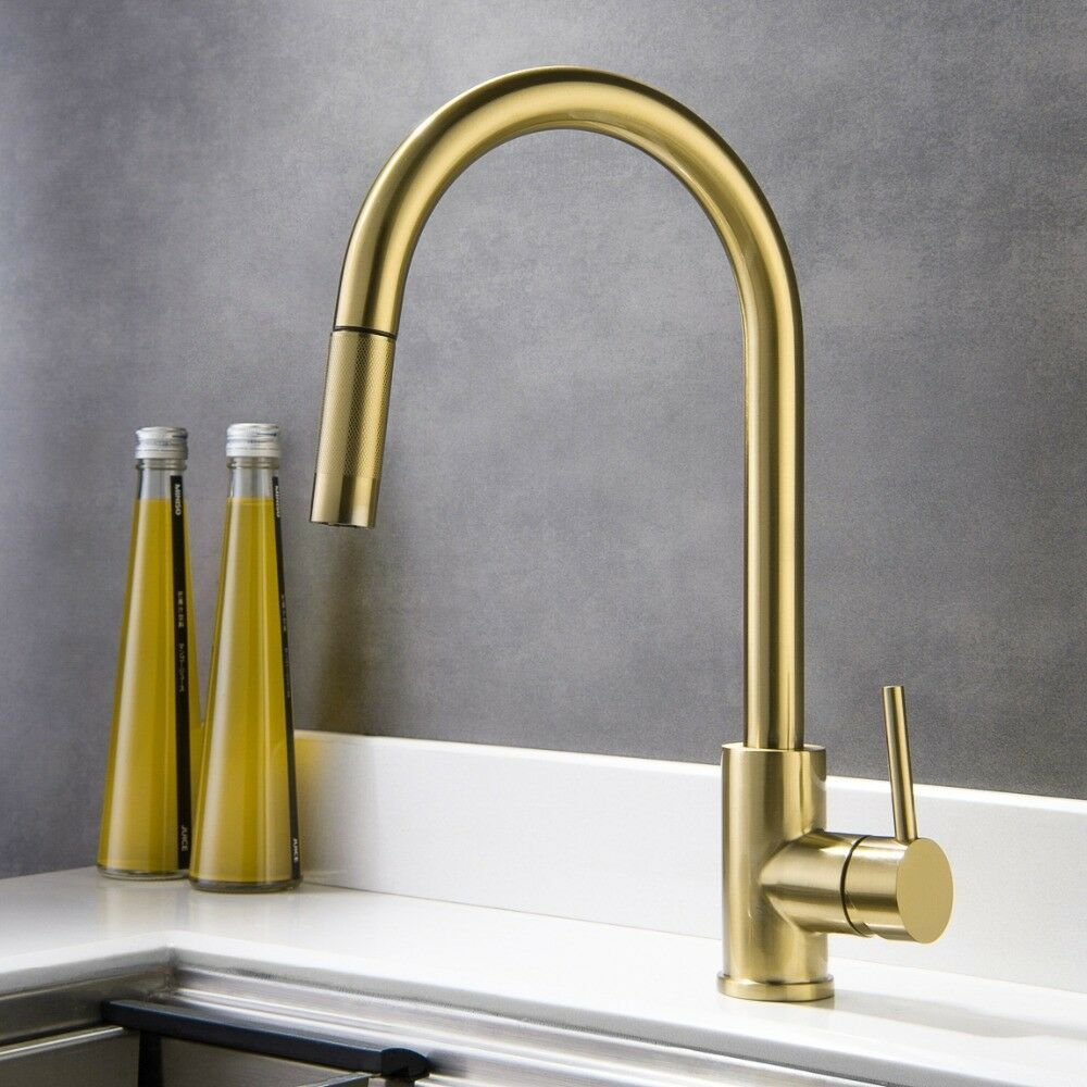Brushed gold Top quality kitchen sink mixer faucet Lead-free ...
