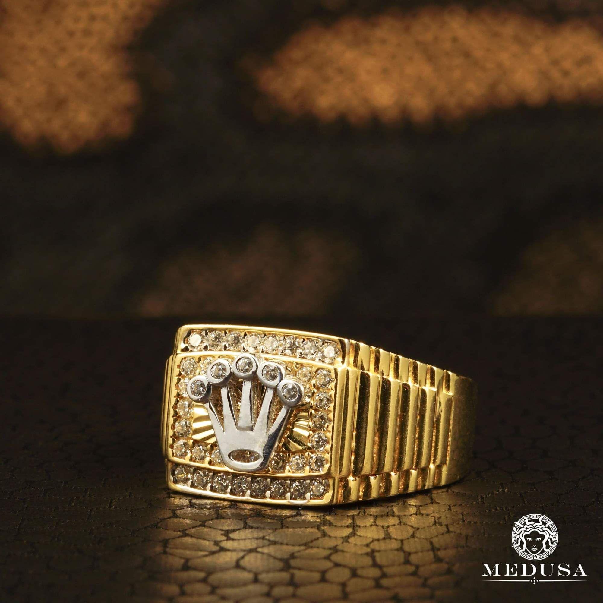 Men's Rings Jewelry Men's GoldPyrex H7inspired Rolex