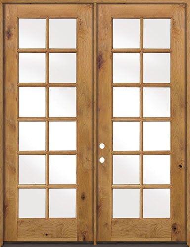 Discount 8 0 Tall 12 Lite Tdl Knotty Alder French Doors Low E Discount Interior Doors Double Doors Interior Prehung Interior French Doors