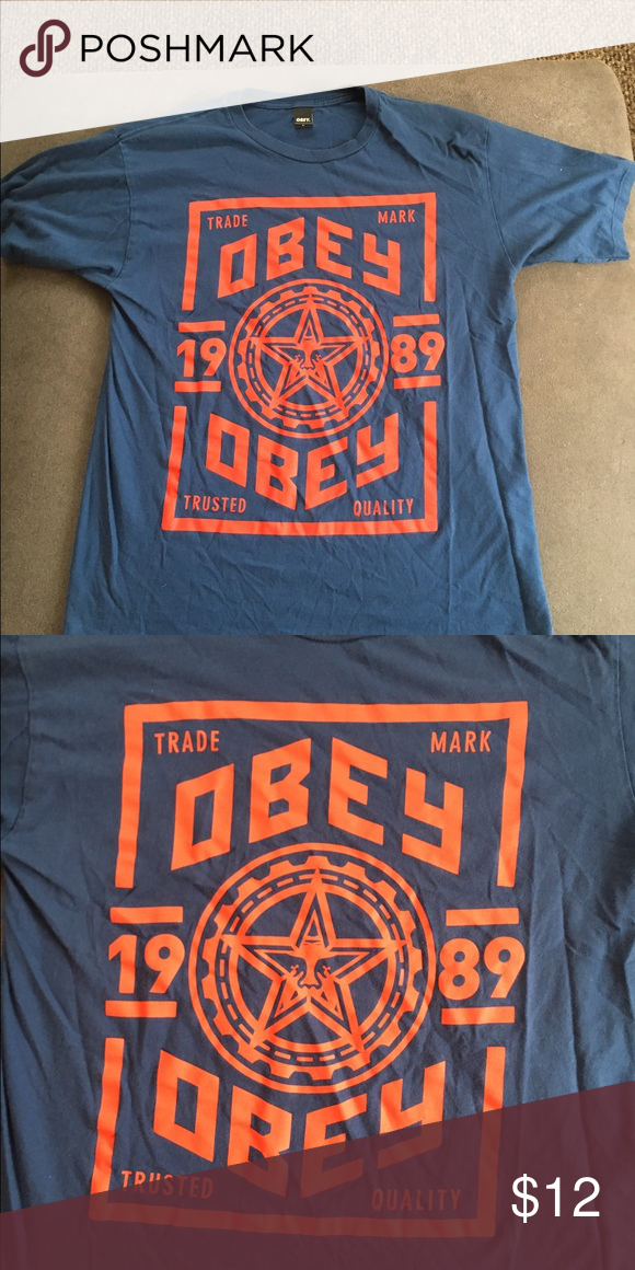 Obey Men's Large tshirt Nice! Obey tshirt men's Large. Used but in good condition! Shirts Tees - Short Sleeve