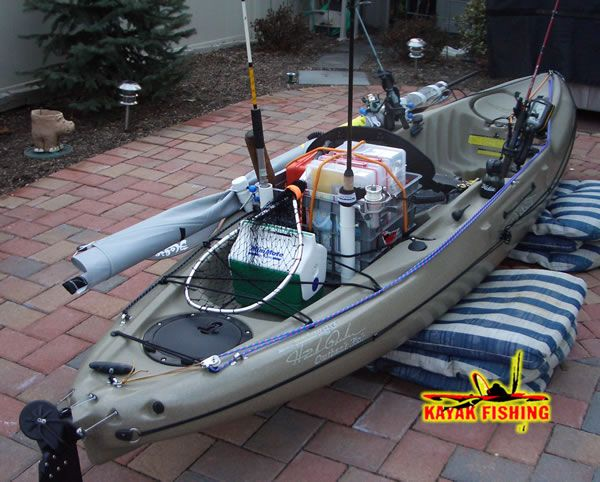 All rigged out cool kayak stuff pinterest fish for Cool fishing boat accessories