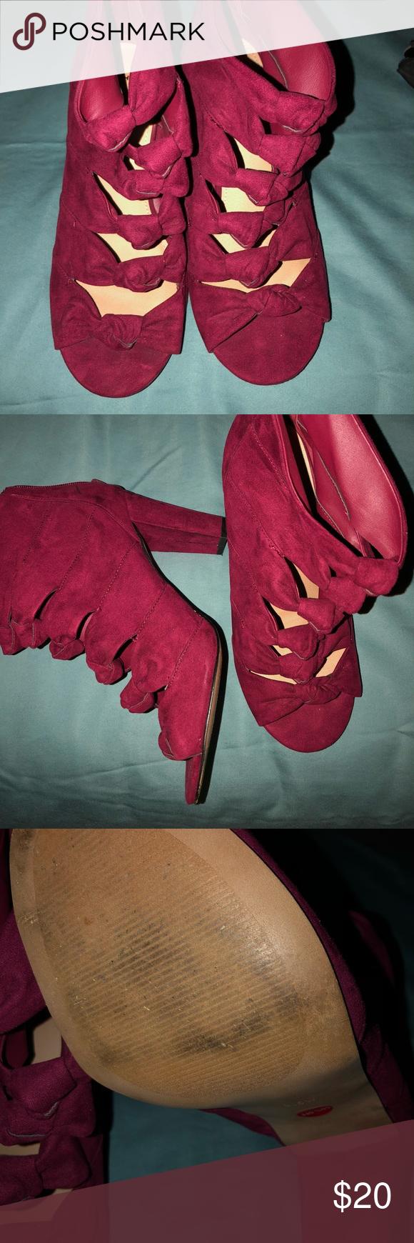 6862bb67b37 Torrid Heels Comfy red heels. Worn twice torrid Shoes Heels