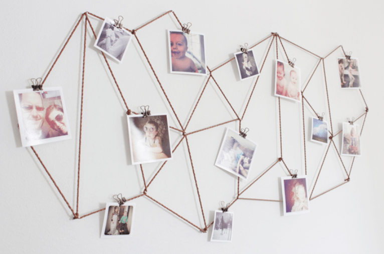10 Creative Ways To Hang Photos Without Frames Photo Wall