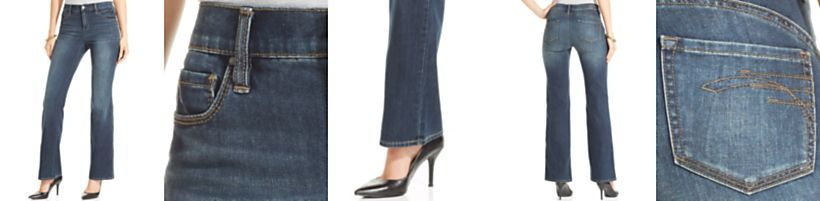 DKNY Jeans Sculpted Bootcut-Leg Jeans, Chelsea Wash